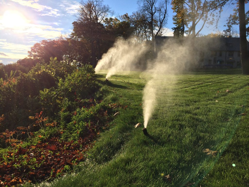 This is an irrigation system in the backyard.
