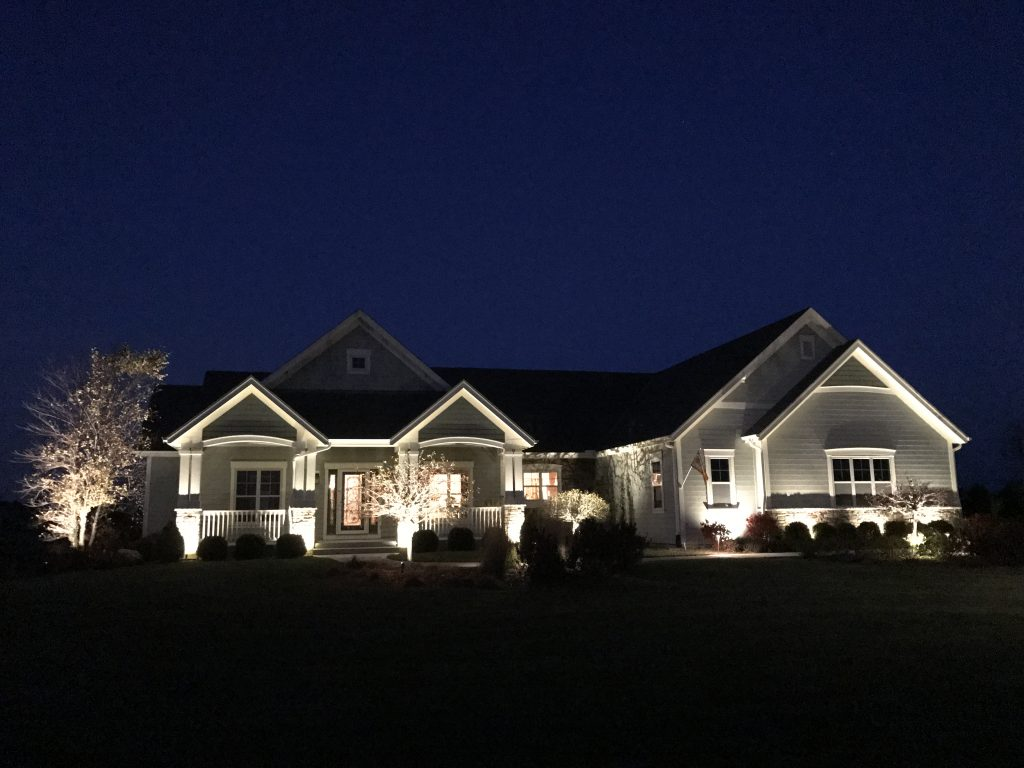 This is outdoor house lighting.