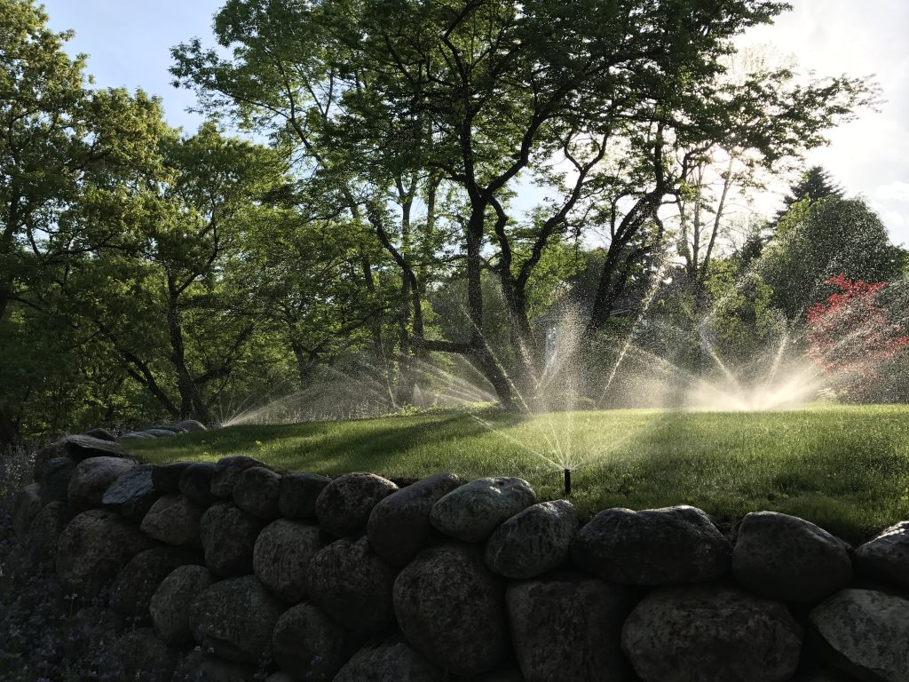 This is a sprinkler irrigation system.